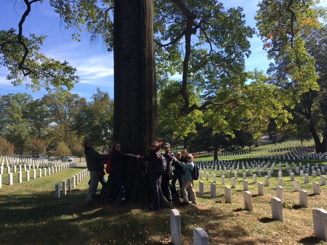 arlington cemetery walk group pic pin oak 2.JPG